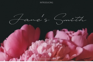 Janes Smith Font Download