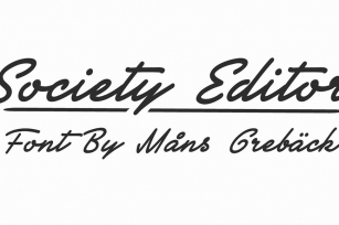 Society Editor Font Download