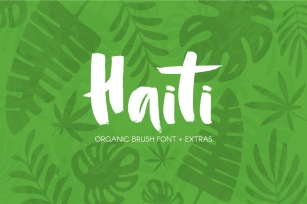 Haiti Organic Brush +Extras Font Download