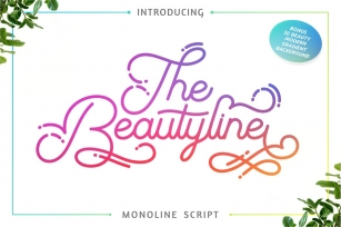 The Beautyline + Extra Font Download