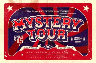 Mystery Tour Display Font Download