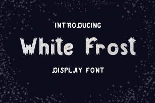White Frost| Display Font Download