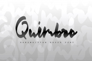 Quimbro Handwritten Brush Font Download