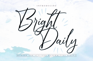 BrightDaily |Modern Handwriting Font Download