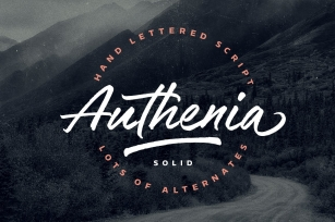Authenia Solid Font Download