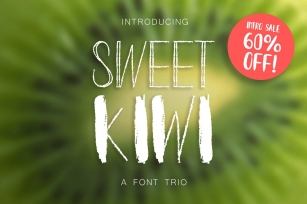 INTRO SALE 60% OFF! Kiwy: font trio Font Download