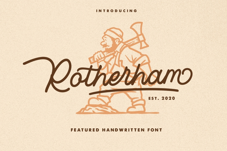 Rotherham Signature Font Typeface Font Download