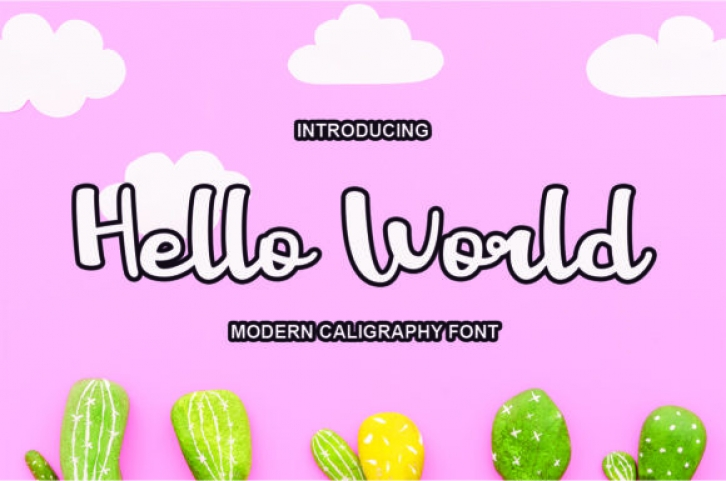 Hello World Font Download