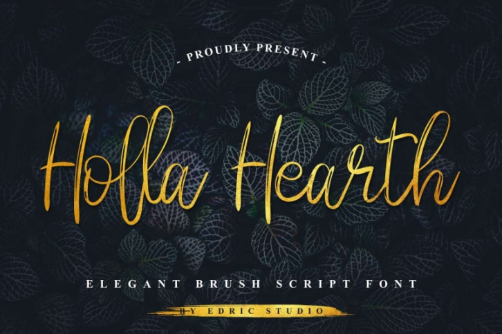 Holla hearth Font Download