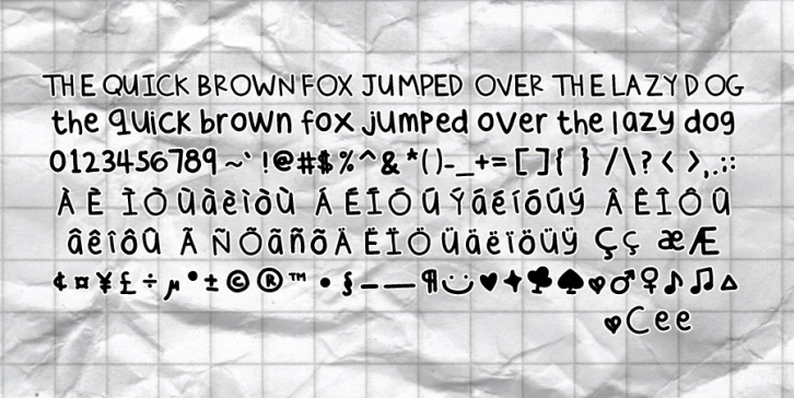 Cee's Hand Font Download
