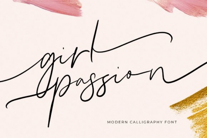 Girl Passion Font Download