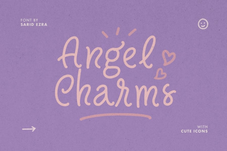 Angel Charms - Cute Font Font Download